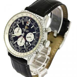 Breitling Black Stainless Steel Navitimer Men's Wristwatch 42MM