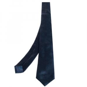 Brioni Blue & Green Jacquard Motif Silk Tie