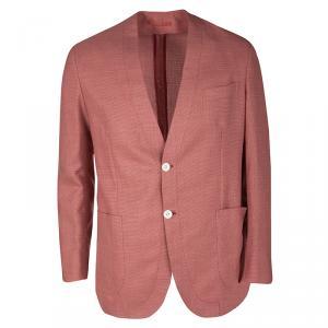 Brioni Red Textured Wool regular Fit Jardigan Jacket L