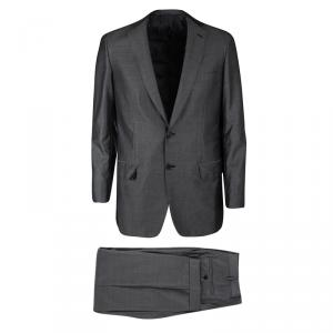 Brioni Grey Wool and Silk Blend Regular Fit Suit M