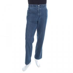 Brioni Indigo Washed Denim Marmolada Straight Jeans L