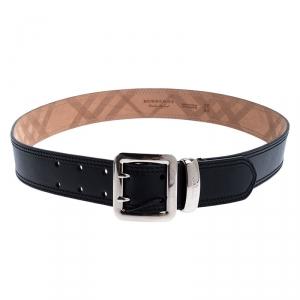 Burberry Black Leather Morgan Belt 90CM