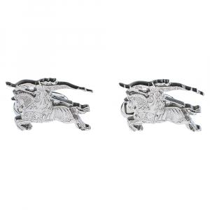 Burberry Equestrian Knight Silver Tone Cufflinks