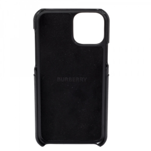 Burberry Black Coated Canvas iPhone 11 Pro Case
