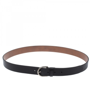 Burberry Black Leather Alex Buckle Belt 100CM
