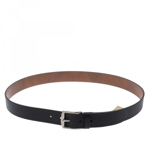 Burberry Black Leather Joe Buckle Belt 105CM