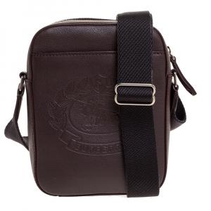 Burberry Oxblood Leather Thornton Crossbody Bag