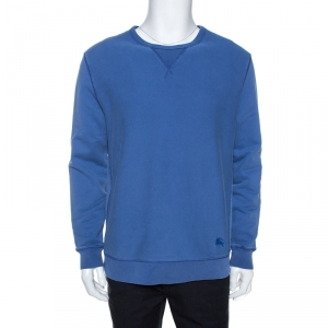 Burberry Brit Light Blue Faded Cotton Sweatshirt L