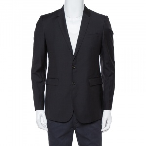 Burberry London Black Wool Mansell Blazer M