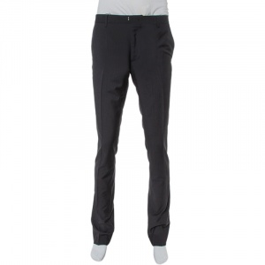 Burberry Black Wool Millbank Tailored Trousers S