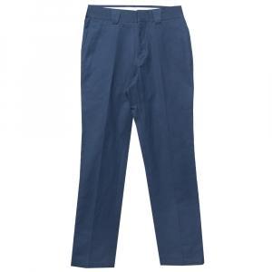 بنطلون بربري أرجل مستقيمة قطن أزرق كحلي مقاس صغير (سمول)