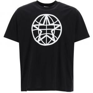 Burberry Black Globe Print T-Shirt Size S -
