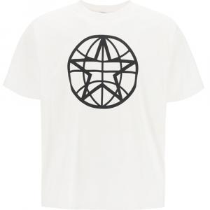 Burberry White Globe Print T-Shirt Size S -