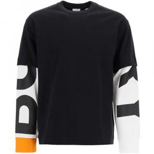 Burberry Black Con Logo Sulle Maniche T-Shirt Size S -