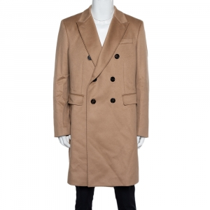 Burberry Camel Brown Cashmere Double Breasted Coat XXL