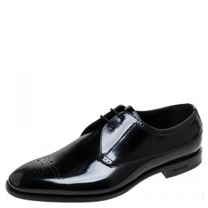 Burberry Black Leather Cranbrook Derby Size 41