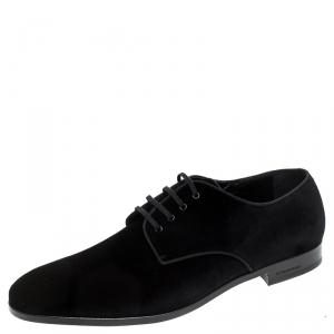 Burberry Black Velvet Menning Derby Size 44.5