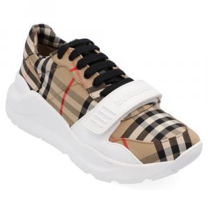 Burberry Check Canvas Regis Chunky Sneakers Size EU 45