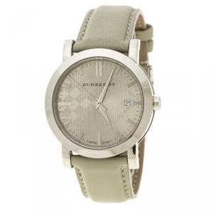 Burberry Grey Stainless Steel Heritage BU1754 Men's Wristwatch 38 mm
