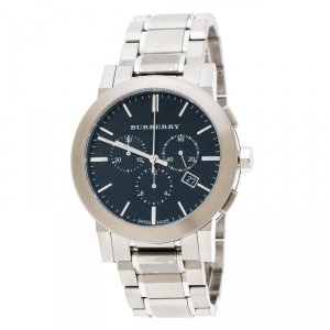 Burberry Black Stainless Steel The City BU9351 Men's Wristwatch 42 mm