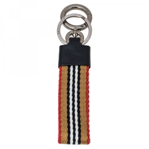 Burberry Archive Beige Icon Stripe Key Ring