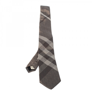 Burberry Metallic Brown London Silk Tie