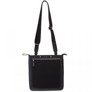 Burberry Black Canvas/Leather Messenger Bag