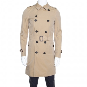 Burberry The Sandringham Beige Belted Long Trench Coat S