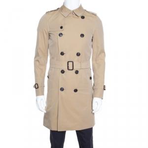 معطف مطر بربري ذا ساندرينغهام بحزام بيج طويل S