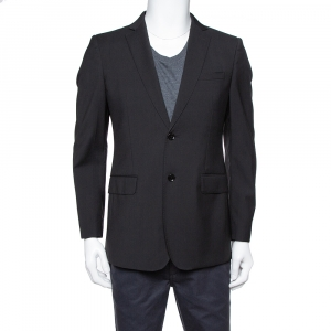 Burberry London Black Wool Classic Tailored Blazer M
