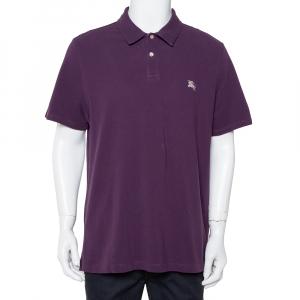 Burberry Brit Purple Cotton Pique Polo T-Shirt XXL - used