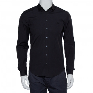 Burberry Brit Black Cotton Button Front Shirt S