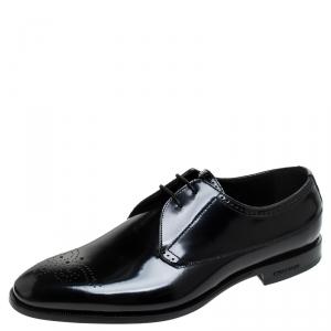 Burberry Black Leather Cranbrook Derby Size 41.5