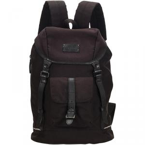 Burberry Two Tone Canvas and Leather Backpack