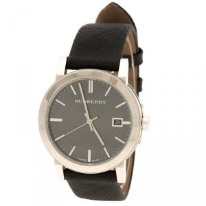 Burberry Silver Grey Stainless Steel Heritage BU9024 Men's Wristwatch 38 mm