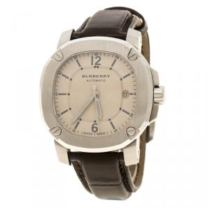Burberry Beige Stainless Steel The Britain BBY1201 Men's Wristwatch 41 mm