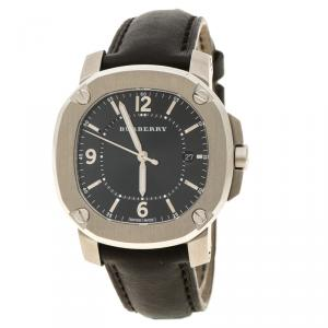 Burberry Black Stainless Steel The Britain BBY1501 Men's Wristwatch 37 mm