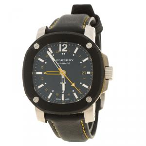Burberry Black Stainless Steel The Britain GMT BBY1350 Men's Wristwatch 40 mm