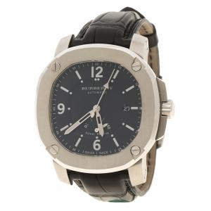 Burberry Black Stainless Steel The Britain BBY1002 Men's Wristwatch 45 mm