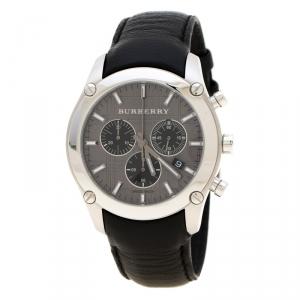 Burberry Grey Stainless Steel BU1588 Chronograph Men's Wristwatch 41 mm