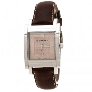 Burberry Bronze Stainless Steel BU1553 Men's Wristwatch 32 mm