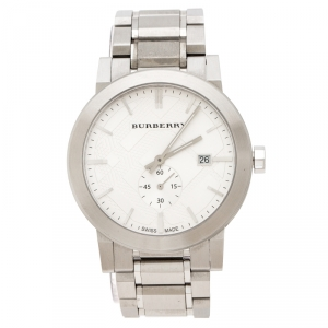 Burberry Silver Stainless Steel The City BU9900 Men's Wristwatch 42 mm