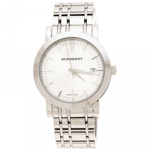 Burberry Silver Stainless Steel Heritage BU1350 Men's Wristwatch 38 mm