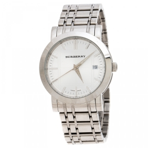 Burberry Silver Stainless Steel Heritage BU1350 Men's Wristwatch 38MM
