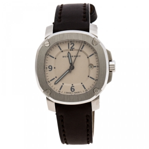 Burberry Beige Stainless Steel The Britain BBY1301 Men's Wristwatch 43 mm