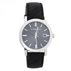 Burberry Grey Stainless Steel BU9030 Men's Wristwatch 38 mm