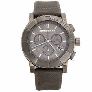 Burberry Grey PVD Coated Stainless Steel Trench BU2303 Men's Wristwatch 42.50 mm