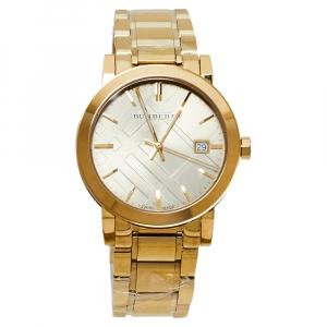 Burberry Champagne Gold Tone The City BU9033 Men's Wristwatch 38MM