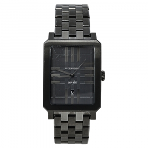 Burberry Gunmetal PVD Coated Stainless Steel BU1902 Men's Wristwatch 31 mm