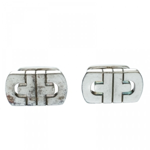 Bvlgari Parentesi Motif Silver Cufflinks